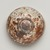 Kitaoji Rosanjin (Japanese, 1883-1959). <em>Tea Bowl</em>, ca. 20th century. Stoneware, white underglaze, red to deep orange mottled overglaze, 3 x 4 3/4 in. (7.6 x 12.1 cm). Brooklyn Museum, Gift of Bernice and Robert Dickes, 72.162.1. Creative Commons-BY (Photo: Brooklyn Museum, 72.162.1_view03_PS11-1.jpg)