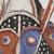 Tomman Islander. <em>Headdress (Nalowan Nambatin avi)</em>, mid 20th century. Tree fern, vegetal-fiber paste, tusks, pigment, 30 × 32 11/16 × 30 11/16 in. (76.2 × 83 × 78 cm) [measurements include fiber]. Brooklyn Museum, Gift of Mr. and Mrs. N. Richard Miller, 74.215.4. Creative Commons-BY (Photo: , 74.215.4_detail01_PS9.jpg)