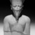<em>Amun-Re or King Amunhotep III</em>, ca. 1403-1365 B.C.E. Quartzite, 7 11/16 x 5 5/8 x 3 15/16 in. (19.5 x 14.3 x 10 cm). Brooklyn Museum, Charles Edwin Wilbour Fund, 76.39. Creative Commons-BY (Photo: Brooklyn Museum, 76.39_front_NegM_bw_SL3.jpg)