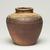 Kitaoji Rosanjin (Japanese, 1883-1959). <em>Shigaraki Ware Jar</em>, ca. 1950. Stoneware, 6 3/4 x 6 1/2 in. (17.1 x 16.5 cm). Brooklyn Museum, Gift of Sidney B. Cardozo, Jr., 76.42.2. Creative Commons-BY (Photo: Brooklyn Museum, 76.42.2_view02_PS11.jpg)