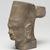 <em>Head of Vishnu</em>, 7th century. Sandstone, 5 7/8 x 2 15/16 in. (14.9 x 7.5 cm). Brooklyn Museum, Gift of Mrs. Henry L. Moses, 76.44. Creative Commons-BY (Photo: Brooklyn Museum, 76.44_threequarter_left_PS11.jpg)