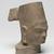 <em>Head of Vishnu</em>, 7th century. Sandstone, 5 7/8 x 2 15/16 in. (14.9 x 7.5 cm). Brooklyn Museum, Gift of Mrs. Henry L. Moses, 76.44. Creative Commons-BY (Photo: Brooklyn Museum, 76.44_threequarter_right_PS11.jpg)