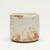 Kitaoji Rosanjin (Japanese, 1883-1959). <em>Cylindrical Vessel</em>, ca. 1955. Stoneware, E-Shino ware, 3 3/4 x 4 1/8 in. (9.5 x 10.5 cm). Brooklyn Museum, Gift of Dr. Hugo Munsterberg, 76.68. Creative Commons-BY (Photo: Brooklyn Museum, 76.68_view02_PS11.jpg)