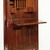 Gustav Stickley (1857-1942). <em>Dropfront Desk</em>, ca. 1903. Oak with copper hardware, 51 1/2 x 25 3/4 x 10 7/8 in. (130.8 x 65.4 x 27.6 cm). Brooklyn Museum, H. Randolph Lever Fund, 77.87. Creative Commons-BY (Photo: Brooklyn Museum, 77.87_open_IMLS_SL2.jpg)