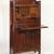 Gustav Stickley (1857-1942). <em>Dropfront Desk</em>, ca. 1903. Oak with copper hardware, 51 1/2 x 25 3/4 x 10 7/8 in. (130.8 x 65.4 x 27.6 cm). Brooklyn Museum, H. Randolph Lever Fund, 77.87. Creative Commons-BY (Photo: Brooklyn Museum, 77.87_open_SL1.jpg)