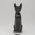 <em>Cat (Bastet)</em>, 664-343 B.C.E. Bronze, 5 1/4 x 1 5/8 x 3 3/4 in. (13.3 x 4.1 x 9.5 cm). Brooklyn Museum, Gift of Mrs. Nasli Heeramaneck, 78.243. Creative Commons-BY (Photo: , 78.243_front_PS9.jpg)