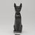 <em>Cat (Bastet)</em>, 664-343 B.C.E. Bronze, 5 1/4 x 1 5/8 x 3 3/4 in. (13.3 x 4.1 x 9.5 cm). Brooklyn Museum, Gift of Mrs. Nasli Heeramaneck, 78.243. Creative Commons-BY (Photo: , 78.243_front_PS9.jpg)