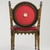 <em>Side Chair</em>, ca. 1868. Beech, pigment, modern upholstery, 29 x 18 1/4 x 18 1/4 in. (73.7 x 46.4 x 46.4 cm). Brooklyn Museum, H. Randolph Lever Fund, 81.56.2. Creative Commons-BY (Photo: Brooklyn Museum, 81.56.2_back_PS9.jpg)
