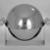 Helen A. Hughes Dulany (American, 1885-1968). <em>Caviar Server</em>, ca. 1930. Chromed metal, 6 5/16 x 8 1/8 x 6 1/2 in. (16 x 20.6 x 16.5 cm). Brooklyn Museum, Gift of Paul F. Walter, 84.124.13. Creative Commons-BY (Photo: Brooklyn Museum, 84.124.13_view1_bw.jpg)