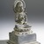 <em>Seated Vajrasattva</em>, 9th century C.E. Bronze, 5 3/8 x 2 15/16 in. (13.7 x 7.5 cm). Brooklyn Museum, Gift of Georgia and Michael de Havenon, 84.184.1. Creative Commons-BY (Photo: Brooklyn Museum, 84.184.1_threequarter_PS4.jpg)