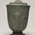 <em>Temple Jar and Lid</em>, 13th-15th century. Bronze, mount (display dimensions including deck mount): 9 1/2 × 6 1/2 × 6 1/2 in. (24.1 × 16.5 × 16.5 cm). Brooklyn Museum, Gift of Dr. Jack Hentel, 84.254.2. Creative Commons-BY (Photo: Brooklyn Museum, 84.254.2_view01_PS11.jpg)