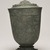 <em>Temple Jar and Lid</em>, 13th-15th century. Bronze, mount (display dimensions including deck mount): 9 1/2 × 6 1/2 × 6 1/2 in. (24.1 × 16.5 × 16.5 cm). Brooklyn Museum, Gift of Dr. Jack Hentel, 84.254.2. Creative Commons-BY (Photo: Brooklyn Museum, 84.254.2_view02_PS11.jpg)