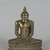 <em>Seated Buddha</em>, 18th century. Gilt bronze, 9 1/2 x 7 1/4 x 3 1/2 in. (24.1 x 18.4 x 8.9 cm). Brooklyn Museum, Gift of Dr. Bertram H. Schaffner, 84.267.1. Creative Commons-BY (Photo: Brooklyn Museum, 84.267.1_PS5.jpg)