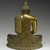 <em>Seated Buddha</em>, 18th century. Gilt bronze, 9 1/2 x 7 1/4 x 3 1/2 in. (24.1 x 18.4 x 8.9 cm). Brooklyn Museum, Gift of Dr. Bertram H. Schaffner, 84.267.1. Creative Commons-BY (Photo: Brooklyn Museum, 84.267.1_back_PS2.jpg)