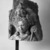 <em>Avalokiteshvara</em>, 9th century. Volcanic stone sculpture, 12 × 11 1/4 × 9 3/4 in., 43 lb. (30.5 × 28.6 × 24.8 cm, 19.5kg). Brooklyn Museum, Gift of Georgia and Michael de Havenon, 85.215.4. Creative Commons-BY (Photo: Brooklyn Museum, 85.215.4_bw.jpg)