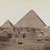 Antonio Beato (Italian and British, ca. 1825-ca.1903). <em>Pyramids at Giza (View from northeast of the pyramids of Chephren and Cheops)</em>, late 19th century. Albumen silver photograph, image/sheet: 7 3/4 x 10 1/4 in. (19.7 x 26 cm). Brooklyn Museum, Gift of Matthew Dontzin, 85.305.2 (Photo: Brooklyn Museum, 85.305.2_PS4.jpg)
