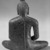 <em>Seated Buddha</em>, 7th-8th century. Bronze, 4 3/4 x 4 3/8 x 2 3/4 in. (12.1 x 11.1 x 7 cm). Brooklyn Museum, Gift of Georgia and Michael de Havenon, 86.183.5. Creative Commons-BY (Photo: Brooklyn Museum, 86.183.5_back_bw.jpg)