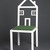 Kate Loye. <em>One Family House Chair</em>, Designed 1984; this example made 1986. Steel tubing, electrostatic paint, astroturf, plywood, 42 1/2 x 17 x 17 in. (108 x 43.2 x 43.2 cm). Brooklyn Museum, Gift of Riane Eisler, 86.240. Creative Commons-BY (Photo: , 86.240_PS9.jpg)