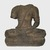 <em>Seated Divinity</em>, 9th century. Volcanic stone, 26 3/8 x 16 15/16 x 26 3/8 in., 390 lb. (67 x 43 x 67 cm, 176.9kg). Brooklyn Museum, Gift of Georgia and Michael de Havenon, 87.188.9. Creative Commons-BY (Photo: Brooklyn Museum, 87.188.9_PS11.jpg)