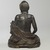 <em>Ascetic Shakyamuni</em>, 16th century. Wood with pigmented lacquer, inlaid crystal, metal, 8 1/2 x 6 1/16 x 7 1/8 in. (21.6 x 15.4 x 18 cm). Brooklyn Museum, Gift of the Asian Art Council, 88.145a-b. Creative Commons-BY (Photo: , 88.145a-b_back_PS6.jpg)