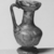 Roman. <em>Jug of Blown Glass</em>, 1st-5th century C.E. Glass, 3 5/8 x Diam. 2 in. (9.2 x 5.1 cm). Brooklyn Museum, Gift of Robert B. Woodward, 01.329. Creative Commons-BY (Photo: Brooklyn Museum, CUR.01.329_negA_bw.jpg)