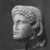 Roman. <em>Head of Apollo</em>, late 1st century B.C.E., probably. Marble, 8 7/16 × 5 11/16 × 6 5/16 in. (21.5 × 14.5 × 16 cm). Brooklyn Museum, Gift of Carll H. de Silver, 03.285. Creative Commons-BY (Photo: , CUR.03.285_NegB_print_bw.jpg)