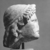 Roman. <em>Head of Apollo</em>, late 1st century B.C.E., probably. Marble, 8 7/16 × 5 11/16 × 6 5/16 in. (21.5 × 14.5 × 16 cm). Brooklyn Museum, Gift of Carll H. de Silver, 03.285. Creative Commons-BY (Photo: , CUR.03.285_NegD_print_bw.jpg)