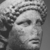 Roman. <em>Head of Apollo</em>, late 1st century B.C.E., probably. Marble, 8 7/16 × 5 11/16 × 6 5/16 in. (21.5 × 14.5 × 16 cm). Brooklyn Museum, Gift of Carll H. de Silver, 03.285. Creative Commons-BY (Photo: , CUR.03.285_NegID_L61_24_print_bw.jpg)