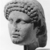 Roman. <em>Head of Apollo</em>, late 1st century B.C.E., probably. Marble, 8 7/16 × 5 11/16 × 6 5/16 in. (21.5 × 14.5 × 16 cm). Brooklyn Museum, Gift of Carll H. de Silver, 03.285. Creative Commons-BY (Photo: , CUR.03.285_NegJ_print_bw.jpg)