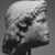 Roman. <em>Head of Apollo</em>, late 1st century B.C.E., probably. Marble, 8 7/16 × 5 11/16 × 6 5/16 in. (21.5 × 14.5 × 16 cm). Brooklyn Museum, Gift of Carll H. de Silver, 03.285. Creative Commons-BY (Photo: , CUR.03.285_NegL-61-20_print_bw.jpg)