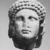 Roman. <em>Head of Apollo</em>, late 1st century B.C.E., probably. Marble, 8 7/16 × 5 11/16 × 6 5/16 in. (21.5 × 14.5 × 16 cm). Brooklyn Museum, Gift of Carll H. de Silver, 03.285. Creative Commons-BY (Photo: , CUR.03.285_NegL-61-4_print_bw.jpg)