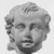 Roman. <em>Child's Head from a Statuette</em>, 30 B.C.E.-395 C.E. Clay Brooklyn Museum, Purchase gift of Robert B. Woodward and Carll H. de Silver, 04.22. Creative Commons-BY (Photo: , CUR.04.22_NegB_print_bw.jpg)