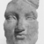 Possibly Greek. <em>Votive Mask</em>, 1000 B.C.E. Terracotta, 6 11/16 × 4 15/16 × 3 9/16 in. (17 × 12.5 × 9 cm). Brooklyn Museum, Purchase gift of Robert B. Woodward and Carll H. de Silver, 04.24. Creative Commons-BY (Photo: , CUR.04.24_NegB_print_bw.jpg)