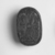 <em>Scarab with Lotus Flower</em>, ca. 1630-1539 B.C.E. Glass, 5/16 x 1/2 x 11/16 in. (0.8 x 1.2 x 1.8 cm). Brooklyn Museum, Charles Edwin Wilbour Fund, 05.354. Creative Commons-BY (Photo: , CUR.05.354_NegID_05.354GRPA_print_cropped_bw.jpg)
