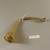 Roman. <em>Trumpet</em>, 4th-5th century C.E. Glass, 3 11/16 x 1 3/4 x 8 9/16 in. (9.3 x 4.4 x 21.7 cm). Brooklyn Museum, Gift of R. B. Woodward, 05.35. Creative Commons-BY (Photo: Brooklyn Museum, CUR.05.35_top.jpg)