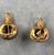 Roman. <em>Pair of Earrings of Hook Type</em>, 1st-2nd century C.E. Gold, 05.461.1: 11/16 × Diam. 1 1/16 in. (1.8 × 2.7 cm). Brooklyn Museum, Ella C. Woodward Memorial Fund, 05.461.1-.2. Creative Commons-BY (Photo: , CUR.05.461.1-.2_view01.jpg)