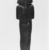 <em>Funerary Figurine of Ramesses II</em>, ca. 1292-1190 B.C.E. Wood, 12 1/2 x 3 7/16 in. (31.8 x 8.7 cm). Brooklyn Museum, Charles Edwin Wilbour Fund, 08.480.5. Creative Commons-BY (Photo: , CUR.08.480.5_NegID_L383_15_print_bw.jpg)