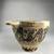 Greek. <em>Skyphos or Kotyle</em>, 6th century B.C.E. Clay, slip, 3 15/16 × 4 5/8 × 7 5/16 in. (10 × 11.8 × 18.5 cm). Brooklyn Museum, Gift of Robert B. Woodward, 09.875. Creative Commons-BY (Photo: Brooklyn Museum, CUR.09.875_view04.jpg)