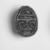 <em>Scarab with Scroll Design</em>, ca. 1539-1292 B.C.E. Steatite, glaze, 1/4 × 7/16 × 9/16 in. (0.7 × 1.1 × 1.4 cm). Brooklyn Museum, Gift of the Egypt Exploration Fund, 14.623. Creative Commons-BY (Photo: , CUR.14.623_NegID_05.354GRPA_print_cropped_bw.jpg)