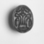 <em>Scarab with Winged Disk and Lotus</em>, ca. 1539-1292 B.C.E. Faience or steatite, 1/4 x 7/16 x 5/8 in. (0.7 x 1.1 x 1.6 cm). Brooklyn Museum, Gift of the Egypt Exploration Fund, 14.624. Creative Commons-BY (Photo: , CUR.14.624_NegID_05.354GRPA_print_cropped_bw.jpg)