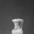 Roman. <em>Pitcher</em>, 1st century B.C.E.-1st century C.E. Glass, 4 5/16 x Diam. 2 9/16 in. (11 x 6.5 cm). Brooklyn Museum, Gift of Robert B. Woodward, 15.10. Creative Commons-BY (Photo: Brooklyn Museum, CUR.15.10_NegA_print_cropped_bw.jpg)