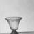 Roman. <em>Bell-shaped Vase</em>, 1st century B.C.E. Glass, 3 1/8 x Diam. 3 1/4 in. (8 x 8.3 cm). Brooklyn Museum, Gift of Robert B. Woodward, 15.14. Creative Commons-BY (Photo: Brooklyn Museum, CUR.15.14_NegA_print_bw.jpg)