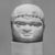 Roman. <em>Male Portrait Head</em>, 4th century C.E. (probably). Marble, 4 1/8 x 3 1/4 x 2 15/16 in. (10.5 x 8.3 x 7.5 cm). Brooklyn Museum, Gift of Evangeline Wilbour Blashfield, Theodora Wilbour, and Victor Wilbour honoring the wishes of their mother, Charlotte Beebe Wilbour, as a memorial to their father, Charles Edwin Wilbour, 16.239. Creative Commons-BY (Photo: Brooklyn Museum, CUR.16.239_NegA_print_bw.jpg)