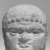 Roman. <em>Male Portrait Head</em>, 4th century C.E. (probably). Marble, 4 1/8 x 3 1/4 x 2 15/16 in. (10.5 x 8.3 x 7.5 cm). Brooklyn Museum, Gift of Evangeline Wilbour Blashfield, Theodora Wilbour, and Victor Wilbour honoring the wishes of their mother, Charlotte Beebe Wilbour, as a memorial to their father, Charles Edwin Wilbour, 16.239. Creative Commons-BY (Photo: Brooklyn Museum, CUR.16.239_NegID_L379_41_print_bw.jpg)
