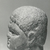 Roman. <em>Male Portrait Head</em>, 4th century C.E. (probably). Marble, 4 1/8 x 3 1/4 x 2 15/16 in. (10.5 x 8.3 x 7.5 cm). Brooklyn Museum, Gift of Evangeline Wilbour Blashfield, Theodora Wilbour, and Victor Wilbour honoring the wishes of their mother, Charlotte Beebe Wilbour, as a memorial to their father, Charles Edwin Wilbour, 16.239. Creative Commons-BY (Photo: Brooklyn Museum, CUR.16.239_NegID_L379_43_print_bw.jpg)