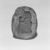 <em>Mold for Amulet of Seated Goddess Holding Papyrus Scepter</em>, ca. 1539-1075 B.C.E. Terracotta, 1 7/16 x 5/8 x 1 7/8 in. (3.6 x 1.6 x 4.7 cm). Brooklyn Museum, Gift of Evangeline Wilbour Blashfield, Theodora Wilbour, and Victor Wilbour honoring the wishes of their mother, Charlotte Beebe Wilbour, as a memorial to their father, Charles Edwin Wilbour, 16.748.8. Creative Commons-BY (Photo: Brooklyn Museum, CUR.16.748.8_NegL1012_30_print_bw.jpg)