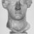 Roman. <em>Head, Apollo of the Omphalos</em>, 1st century C.E. copy of a 480 B.C.E. original. Marble, 12 11/16 x 7 5/8 in. (32.3 x 19.3 cm). Brooklyn Museum, Purchased with funds given by A. Augustus Healy and Robert B. Woodward Memorial Fund, 18.166. Creative Commons-BY (Photo: Brooklyn Museum, CUR.18.166_NegB_print_bw.jpg)