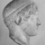Roman. <em>Head, Apollo of the Omphalos</em>, 1st century C.E. copy of a 480 B.C.E. original. Marble, 12 11/16 x 7 5/8 in. (32.3 x 19.3 cm). Brooklyn Museum, Purchased with funds given by A. Augustus Healy and Robert B. Woodward Memorial Fund, 18.166. Creative Commons-BY (Photo: Brooklyn Museum, CUR.18.166_NegF_print_bw.jpg)