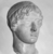 Roman. <em>Head, Apollo of the Omphalos</em>, 1st century C.E. copy of a 480 B.C.E. original. Marble, 12 11/16 x 7 5/8 in. (32.3 x 19.3 cm). Brooklyn Museum, Purchased with funds given by A. Augustus Healy and Robert B. Woodward Memorial Fund, 18.166. Creative Commons-BY (Photo: Brooklyn Museum, CUR.18.166_NegG_print_bw.jpg)