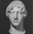 Roman. <em>Head, Apollo of the Omphalos</em>, 1st century C.E. copy of a 480 B.C.E. original. Marble, 12 11/16 x 7 5/8 in. (32.3 x 19.3 cm). Brooklyn Museum, Purchased with funds given by A. Augustus Healy and Robert B. Woodward Memorial Fund, 18.166. Creative Commons-BY (Photo: Brooklyn Museum, CUR.18.166_NegI_print_bw.jpg)